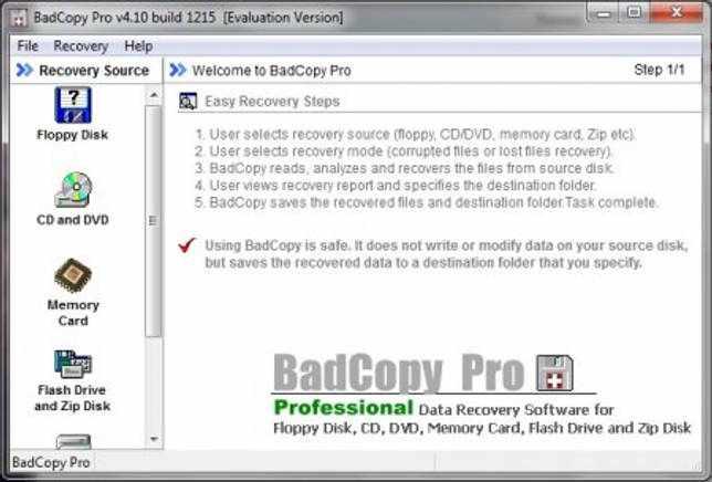 BadCopy Pro 4.10.1215 восстановление файлов