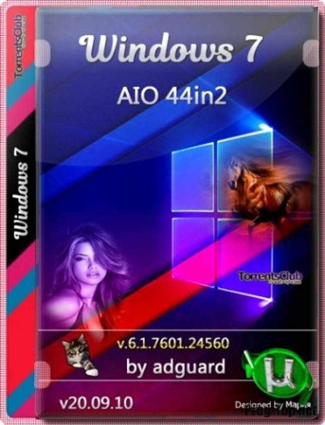 Обновленная сборка Windows 7 SP1 with Update AIO 44in2 (x86-x64) by adguard (v20.09.10)