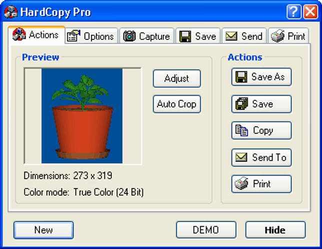 Скриншот HardCopy Pro 3.3.3