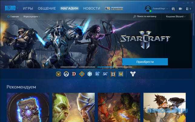 Blizzard русская версия
