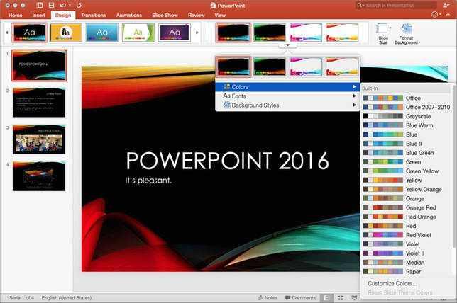 Скачать PowerPoint 2016 для Windows 7-10 + лицензионный ключ бесплатно